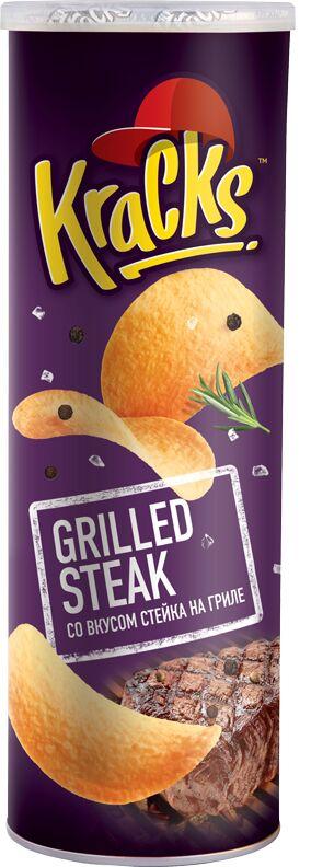 Картофельные чипсы Kracks Стейк на гриле туба 160гр