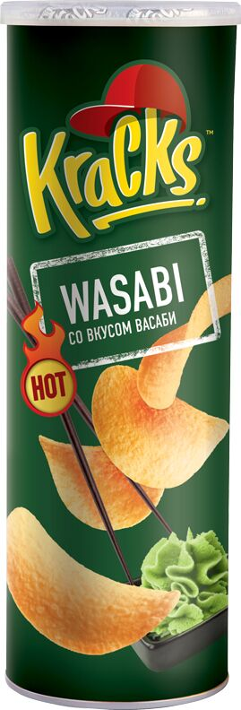 Картофельные чипсы Kracks Васаби туба 160гр