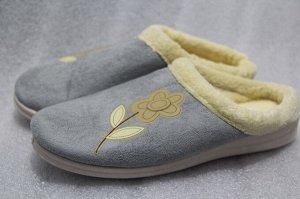 Туфли комнатные с верхом из текст. матер.женские