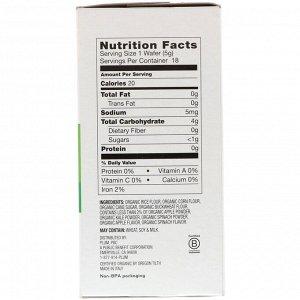 Plum Organics, Little Teethers, Organic Multigrain Teething Wafers, Apple with Leafy Greens, 6 Packs, 0.52 oz (15 g) Each
