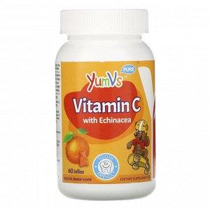 YumV&#x27 - s, Витамин C с эхинацеей, с великолепным апельсиновым вкусом, 60 желейных мишек