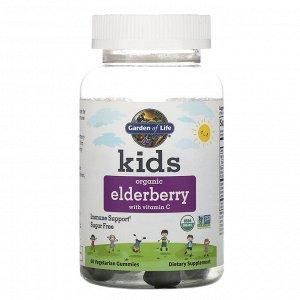 Garden of Life, Kids, Organic Elderberry with Vitamin C, 60 Vegetarian Gummies