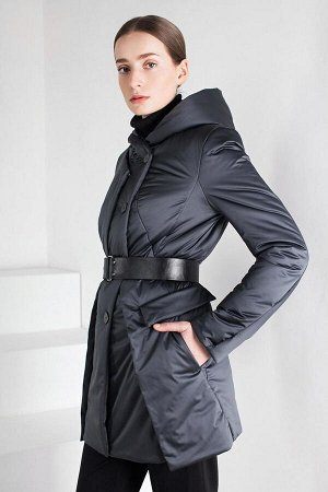 Куртка женская, цвет сине-серый