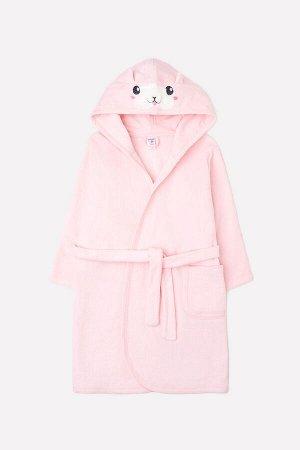 Халат для девочки Crockid К 5481 светло-розовый (хомяк)