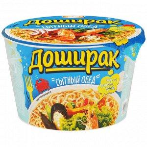 """Лапша  Доширак """"Сытный обед"""", 110 г со вкусом морепродуктов"""