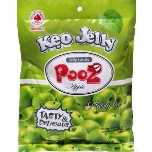 """Желейные конфеты """"Pooz"""" со вкусом яблока 100гр*40"""