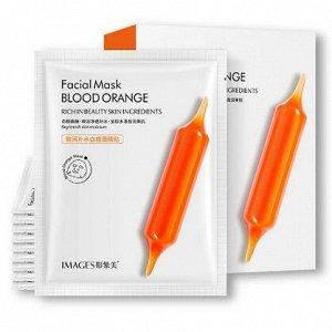 Антивозрастная тканевая маска c экстрактом цитруса  Images Blood Orange Facial Mask, 25 г