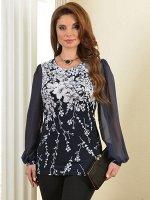 Арт. 0461Д блузка Цветы Salvi