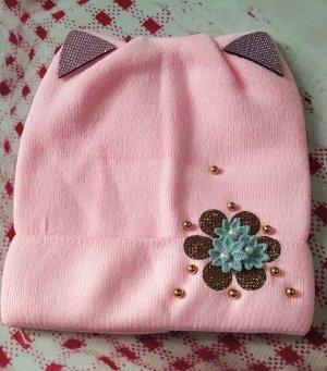 Шапка для девочки. Цвет нежно-розовый