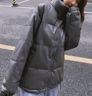 Женская куртка темно серая