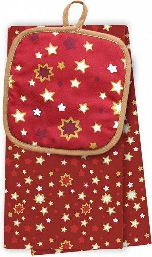 Подарочный набор из полотенца и прихватки Bonita, Рождественская звезда