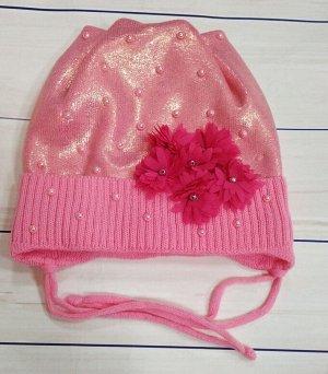 Шапка для девочки. Цвет розовый