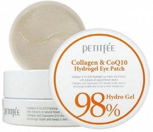 Petitfee Collagen & CoQ10 Hydrogel Eye Patch  патчи для глаз с коллагеном и коэнзимом