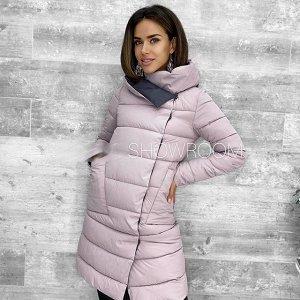 Куртка Куртка «Глам». Прямой крой, воротник стойка, имеются боковые карманы, застёгивается на клёпки. Материал: таслан. Наполнитель: холлофайбер. Температурный режим: до -5*С. Размерная сетка:⠀⠀ •42