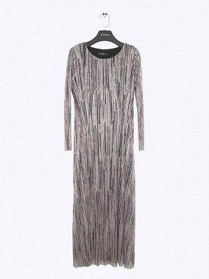 Платье приталенного кроя в полоску PL1111/davidson
