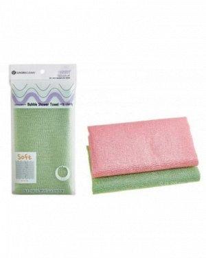 """SUNG BO Мочалка д/душа """"Bubble Shower Towel """" №165 (28х100см) мягкой жесткости /нейлон, полиэстер"""