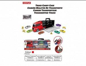 Набор Трейлер с кейсом для машинок +машинки , кор.40,2*9,5*15 см