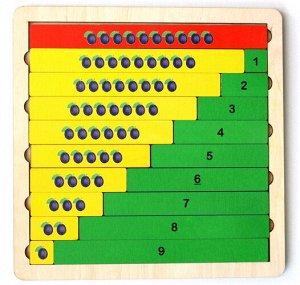 """Пазл деревянный """"Арифметика.Состав числа"""",25*22,5*0,8 см"""