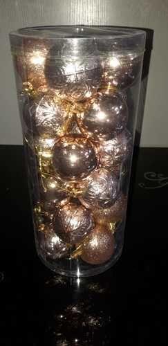 Набор из 24-х шаров на елку d-5,5см, в ассорт., туба*
