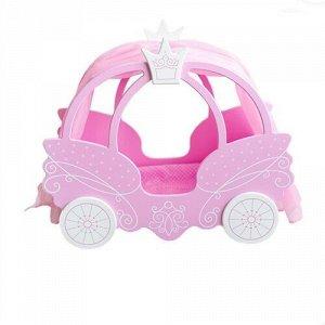 """Кровать для кукол """"Shining Crown"""" цв. розовое облако ,кор.57,5*6,3*45,5 см"""