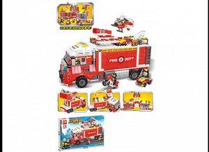 Конструктор Пожарная машина , кор.63*8*42 см