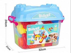 Конструктор для малышей 50 пред., в контейнере 24*21*32 см