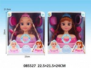 Набор стилиста (кукла-голова с аксесс), кор.23*25*21,5 см