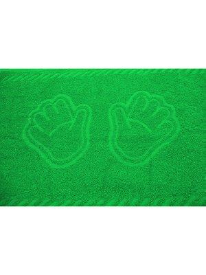 """Полотенце махровое """"Ручки зеленый"""""""