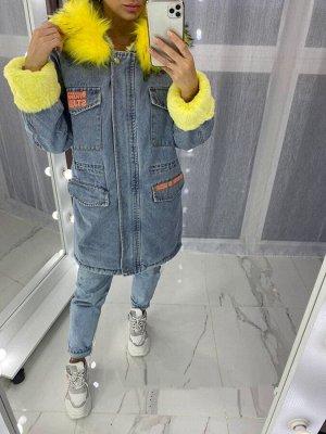 Куртка джинсовая с мехом