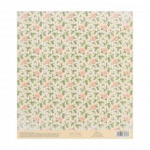 Набор бумага для скрапбукинга с клеевым слоем «Твори», 20 ? 21,5 см, 10 листов, 250 г/м