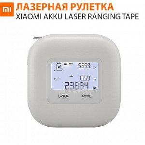 Измерительная лазерная рулетка Xiaomi AKKU Laser Ranging Tape Measure