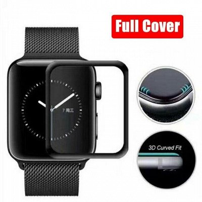 Большая закупка электроники. Защитное стекло на тел 9D-50 р — Защитные стекла Apple Watch