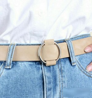 Ремень Женский свободный ремень с круглой пряжкой, - ширина 6см. - длина ремня 115см. - материал экокожа