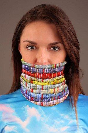 Этно 1 Красивый баф - повязка-трансформер на шею с ярким дизайнерским принтом. Повязка-трансформер может легко выполнять рольшарфа, балаклавы или даже шапочки, обеспечивая ваш комфорт и защиту от вет