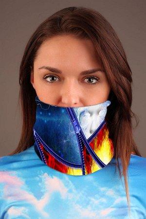 Молнии Красивый баф - повязка-трансформер на шею с ярким дизайнерским принтом. Повязка-трансформер может легко выполнять рольшарфа, балаклавы или даже шапочки, обеспечивая ваш комфорт и защиту от вет