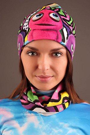 Пушистики Красивый баф - повязка-трансформер на шею с ярким дизайнерским принтом. Повязка-трансформер может легко выполнять рольшарфа, балаклавы или даже шапочки, обеспечивая ваш комфорт и защиту от