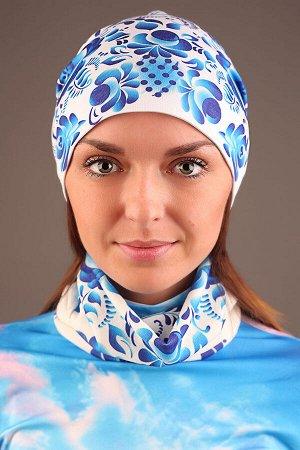 Голубая Гжель на белом