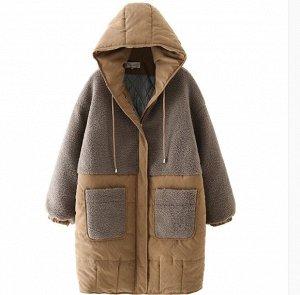 Зимняя куртка утепленная на хлопке,карамель