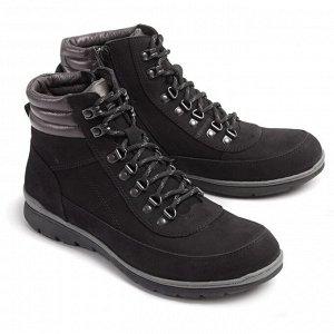 Ботинки демисезонные мужские, черный нубук