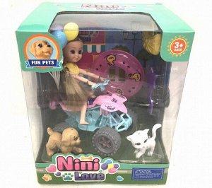 Кукла на мотоцикле (с животными)