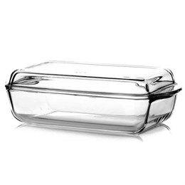 Противень Противень стеклянный с крышкой. Подходит для духовки, СВЧ, холодильника, посудомоечной машины Размер : 26 см *17 см, высота чашки 6 см, высота чаши с крышкой 9 см.