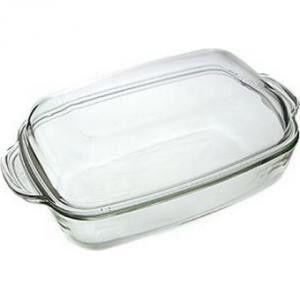 Противень Противень стеклянный с крышкой. Подходит для духовки, СВЧ, холодильника, посудомоечной машины Размер : 34,5 см *23 см, высота чашки 7,5 см, высота чаши с крышкой 12 см.