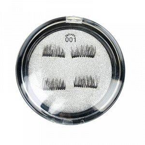 ЮниLook Накладные ресницы с 2-мя магнитами, цвет черный, #001