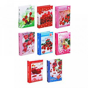 Фотоальбом на 36 фото, 16,5х12,5см, 10х15см, PP, картон, 8 дизайнов