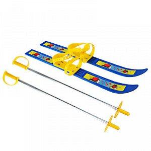 """Лыжи детские с палками, с мягким креплением пластиковым, 66/75см, """"олимпик-спорт"""""""