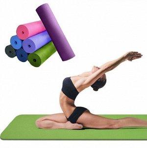 Коврик для фитнеса 61*173 см, 6 мм, фиолетовый