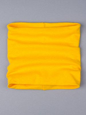 Снуд трикотажный однотонный, желтый