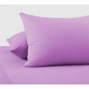 Комплект трикотажных наволочек на молнии Фиолетовый 50х70