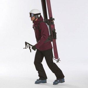 Куртка горнолыжная для фрирайда мужская бордовая FR 500 WEDZE