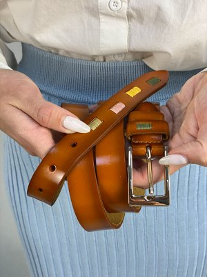 Ремень женский кожаный